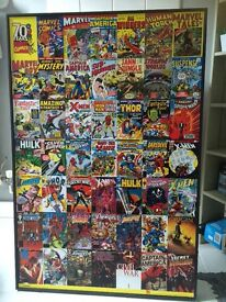 Marvel no frame wooden picture. Large!