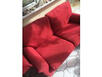 2-seater red sofa