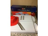Bargain 3 Three Piece Julienne Food Slicer Stainless Steel Blades Boxed Brand New