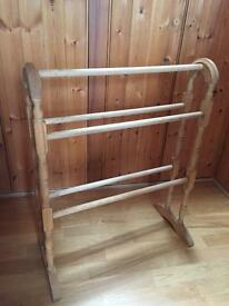 Light wood towel rack