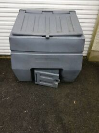 2 x large grey coal bunkers both same shape and size £50.00 each