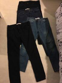 "4 pairs of decent men's jeans 38"" waist"