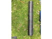 """Black matting"" heavy duty woven weed control membrane"