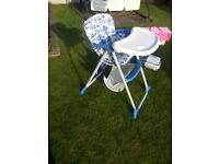 High chair. Very good condition