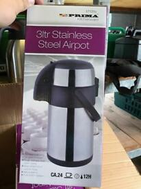 Stainless steel airpots and stainless steel coffee servers