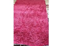 Red rug, bought from Next