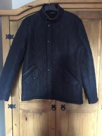 Men Barbour Powell Quilted Jacket Navy Size M BNWT