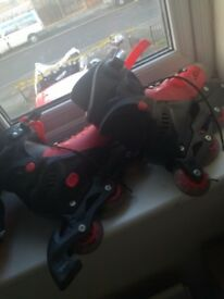 FREEE SIZE 8 INLINE ROLLER SKATES, SOMEONE PLEASE TAKE THEM