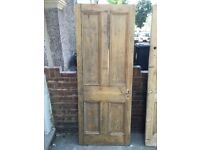 FREE, COLLECT ONLY: 2 Victorian solid pine doors