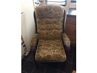 wing back chair for old personsgood condition