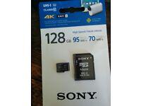 Sony 128gb 4k micro sd