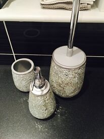 Next bathroom accessories sparkly glitery set