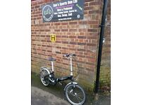 """PINNACLE JOURNEY 20"""" FOLDING BIKE ,COMMUTER, CAMPING FULLY SERVICED CAMPING"""