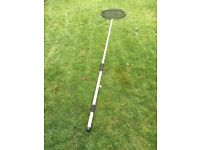 Very long pond fish pole with net
