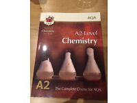 CGP AQA chemistry A2-level revision guide.