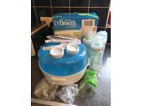 Dr Browns starter set & Tommee Tippee food blender.