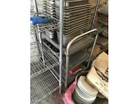 closed down restaurant chinese clearing table chairs plates trolley racks BARGAIN