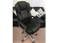 Black and metal office chair