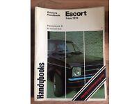 Ford escort handbook