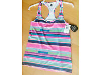 Brand New Roxy sports/fitness top with tags. Size S.