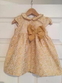Gold brocaid dress
