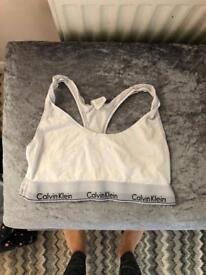 CK white bra