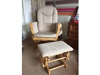 Mothercare Nursing Glider Chair and Footstool
