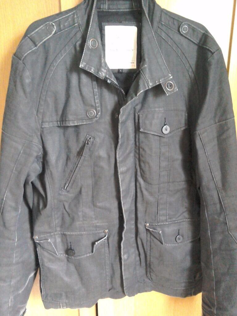 Jack Jones Vintage Denim Jacket Black Size Large In