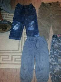 Boys 2-3&3-4 trousers 6 pairs