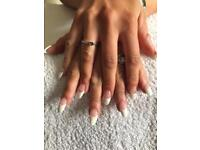 Acrylic nails, sculptured or tips £8