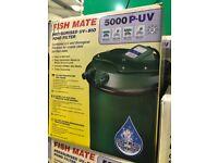 Fish Mate 5000 P-UV Pressurised Pond Pump BNIB (5 available)