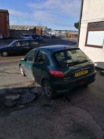 Spares or repairs. Peugeot 206 Rolland Garros. Needs some repairs to be done but still useful.