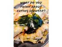 Research study survey about seaweed consumption in the UK