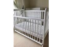 John Lewis cot and drawers