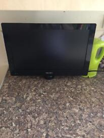"19"" bush flat screen tv no remote no stand"