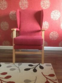 Armchair - Orthopaedic Red Fabric