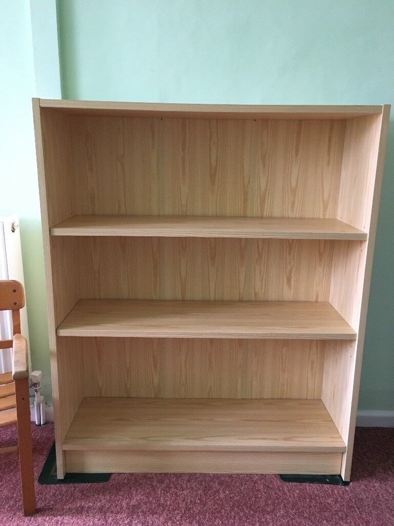 Small Bookcase Light Wood Effect