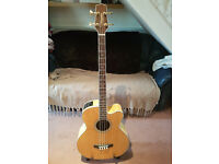 Takamine GB72CE - Natural acoustic bass, jumbo - Great Condition with gig bag.