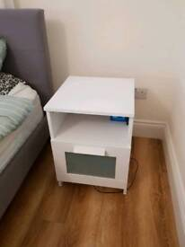 IKEA white bed side cabinet drawer
