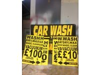 Car wash signs with Jetwash