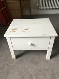 Solid wood bedside table