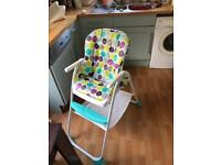 Joie mimzy eco highchair, barely used
