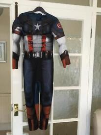 Fancy dress captain America costume 7-8 years