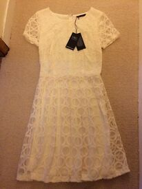 Marks and Spencers Cream Dress Size 8