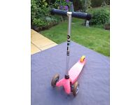 Mini Micro Scooter - Pink 3 Wheel Scooter
