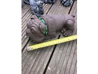 Bulldog garden concrete ornament