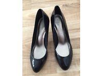 Ladies M&S Heeled Patent Shoes