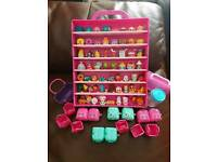 64 Shopkins with display case and accessories