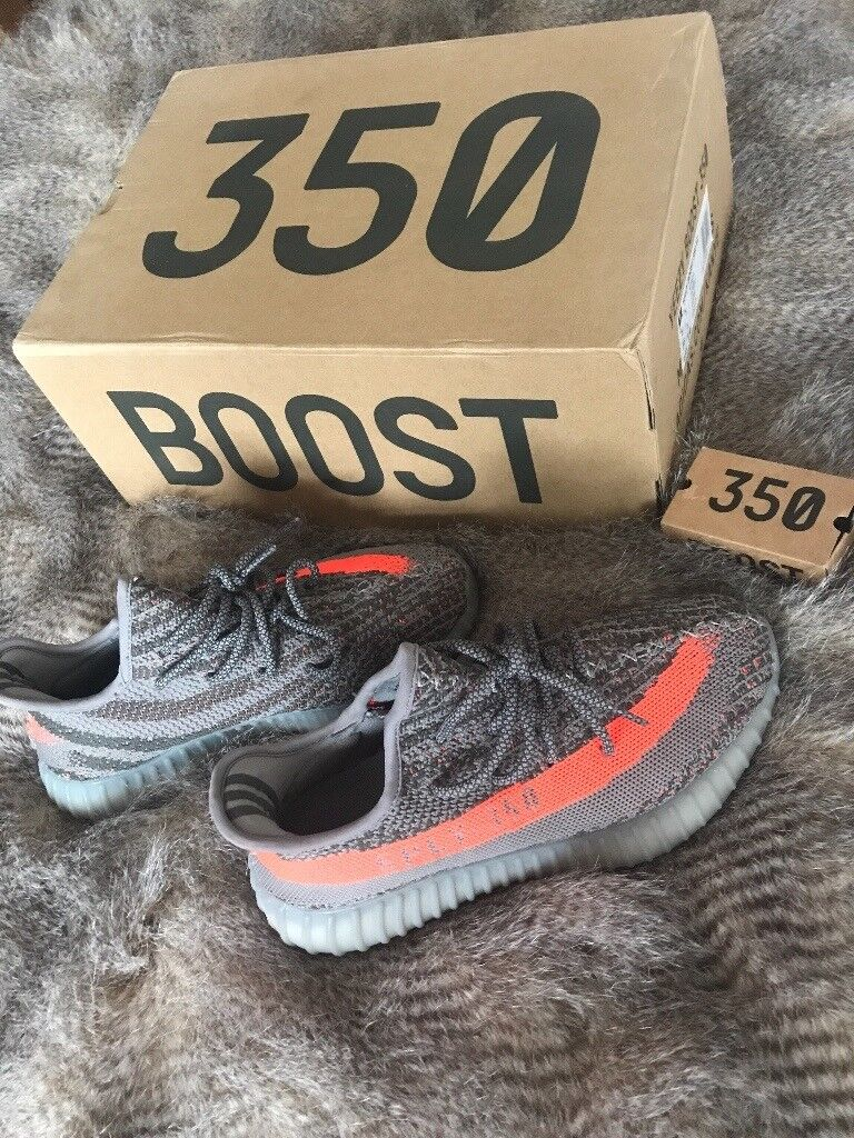 Grey and Orange Yeezy Sply 350