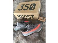 Grey and Orange Yeezy Sply 350
